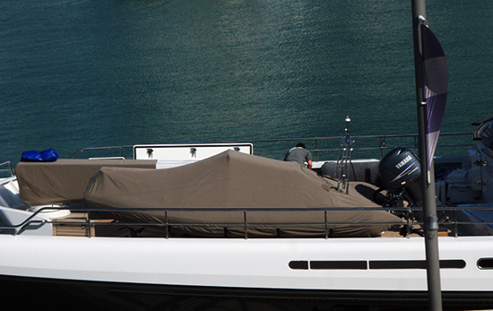 cary ali superyacht tender boat cover